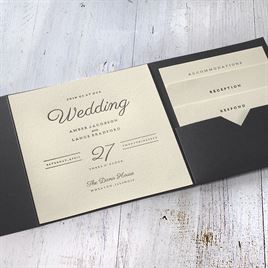 Modern Sophistication - Black Invitation Pocket