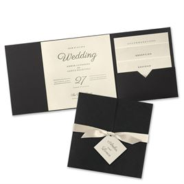 Modern Sophistication - Black Invitation Pocket