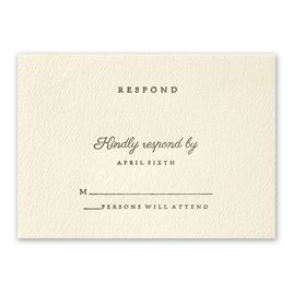 Modern Sophistication - Response Card