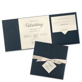 Modern Sophistication - Navy Invitation Pocket