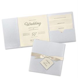 Modern Sophistication - Silver Shimmer Invitation Pocket