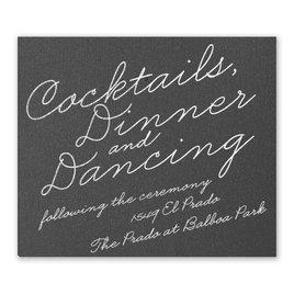 Exquisite Penmanship - Black Shimmer - Foil Information Card