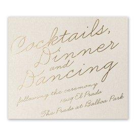 Exquisite Penmanship - Ecru Shimmer - Foil Information Card