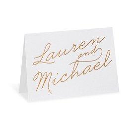 Exquisite Penmanship - White Shimmer - Foil Thank You Card