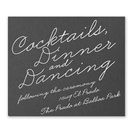 Exquisite Penmanship - Black Shimmer - Foil Information Card