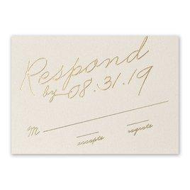 Wedding Response Cards: Exquisite Penmanship Foil Response Card