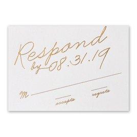 Exquisite Penmanship - White Shimmer - Foil Response Card