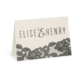Lace Reflections - Ecru Shimmer - Foil Thank You Card