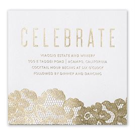 Lace Reflections - White Shimmer - Foil Information Card