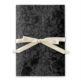 Ebony Vines Foil Invitation
