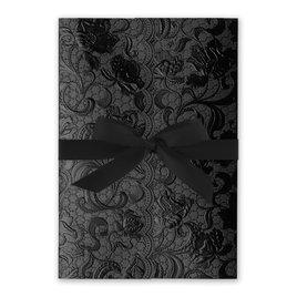 Ebony Vines - Black - Foil Invitation