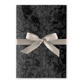 Ebony Vines - Greige - Foil Invitation