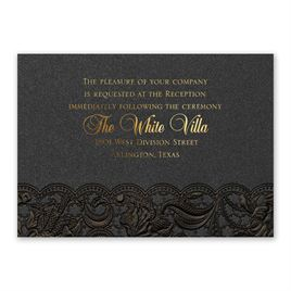 Ebony Vines - Foil Reception Card