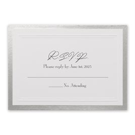 Silver Sophisticated Border - Response Card