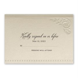 Touch of Lace - Response Card