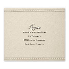 Touch of Lace - Reception Card