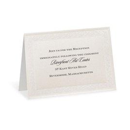 Elegant Display - Reception Card