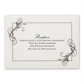Flourishing Beauty - Reception Card