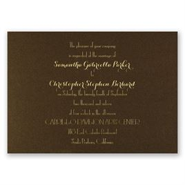 Effortless Beauty - Brown Shimmer - Foil Invitation