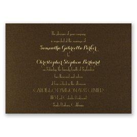 Effortless Beauty - Brown Shimmer - Foil Invitation