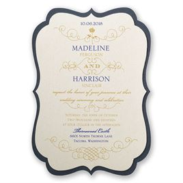 Disney - Luxurious Rose Invitation - Belle