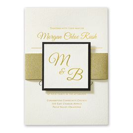 Layers of Luxury Foil Invitation
