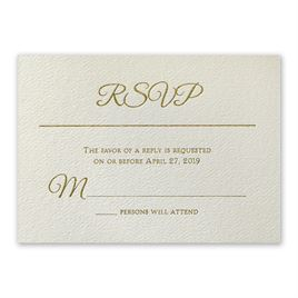 Layers of Luxury - Gold Foil Response Card