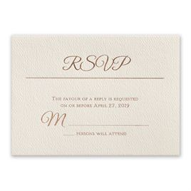 Layers of Luxury - Rose Gold - Foil Response Card