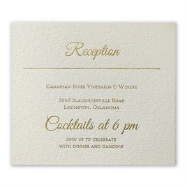 Layers of Luxury - Gold Foil Information Card