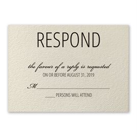 Pretty Floral - Response Card