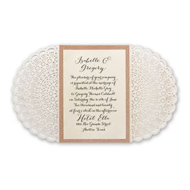 Rustic Glam - Rose Gold - Laser Cut and Real Glitter Invitation