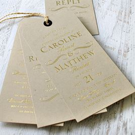 Pretty and Perfect - Gold - Foil Invitation
