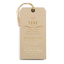 Pretty and Perfect - Gold - Foil Accommodations Card