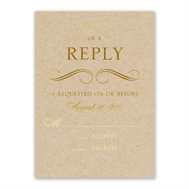 Pretty and Perfect - Gold - Foil Response Card