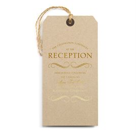 Pretty and Perfect - Gold - Foil Reception Card