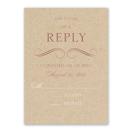 Pretty and Perfect - Rose Gold - Foil Response Card