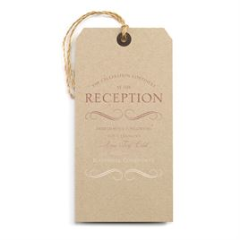 Pretty and Perfect - Rose Gold - Foil Reception Card