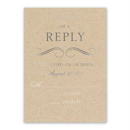 Pretty and Perfect - Silver - Foil Response Card
