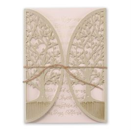 Natures Gateway - Blush -  Foil and Laser Cut Invitation