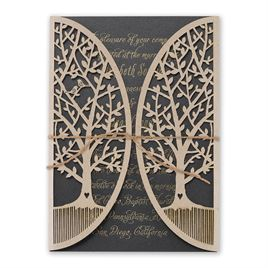 Natures Gateway - Black -  Foil and Laser Cut Invitation