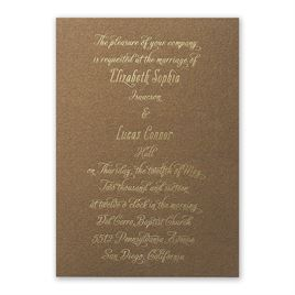 "Nature""s Gateway - Brown -  Foil and Laser Cut Invitation"