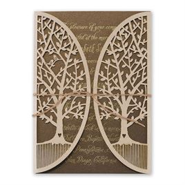Natures Gateway - Brown -  Foil and Laser Cut Invitation