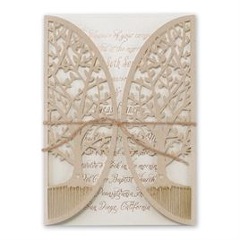 Natures Gateway Foil and Laser Cut Invitation
