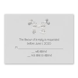 Disney - Mickey and Minnie Response Card - Mickey Mouse