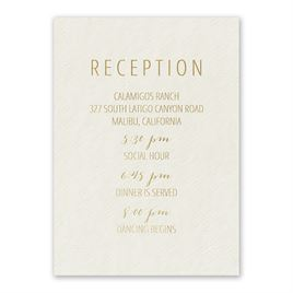 Simple Luxury - Foil Reception Card