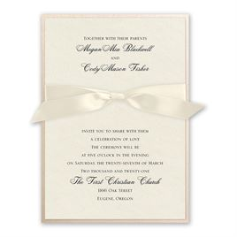 Luxe Love - Blush Shimmer Invitation