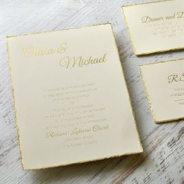Gold Lining - Foil Invitation