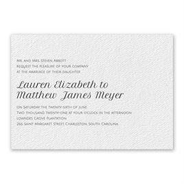 Pure Perfection Invitation