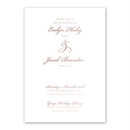 Rose Gold Wedding Invitations Invitations By Dawn