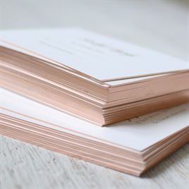 Gilded Beauty - Rose Gold - Foil Reception Card